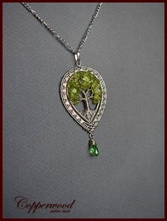 Tree of life necklace /Celtic pendant / Wire wrap jewelry /