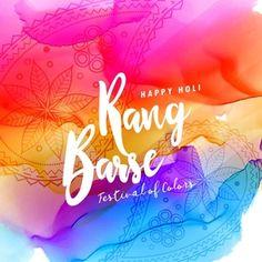 Holi feliz fundo colorido com texto tocou barse precipitação tradução de cores