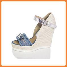 Modische Damen Bast Slippers Espadrilles Keilabsatz Schuhe 137687 Dunkelgrün 37 Flandell ruCvVLJw0