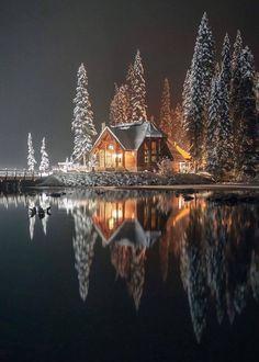 Emerald Lake lodge, Yoho National Park (B.) Emerald Lake lodge, Yoho National Park (B. Winter Wonderland, Beautiful World, Beautiful Places, Wonderful Places, Simply Beautiful, Emerald Lake, Winter Scenery, Snow Scenes, Winter Beauty