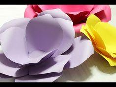 Como fazer Flor de papel grande - Paper flower