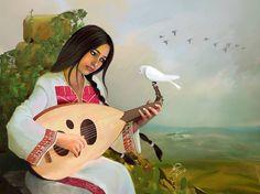 The Migrant Tune Digital Art by Imad Abu shtayyah Palestine Art, Islamic Paintings, Aesthetic Art, Art Lessons, Art Girl, Art Drawings, Art Photography, Street Art, Abstract Art