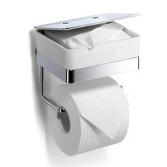 Giese 31770-02 Toilet -Duo for wet wipes with toilet roll holder