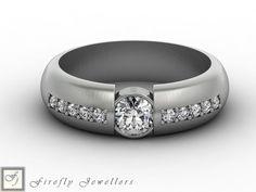 Diamond and white gold engagement ring. (source: www.fireflyjewel.co.za) Gold Engagement Rings, Wedding Rings, White Gold, Jewelry, Jewlery, Bijoux, Schmuck, Wedding Ring, Jewerly