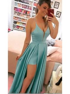 Slit dress prom - Sexy Long Prom Dress With Slit Custommade School Dance Dress Fashion Graduation Party Dress – Slit dress prom Long Party Gowns, Wedding Party Dresses, Evening Dresses, Prom Dresses, Formal Dresses, Dress Prom, School Dance Dresses, Slit Dress, Beautiful Dresses