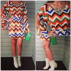 Every girl needs a little chevron! Wouldn't this dress be cute with brown leggings?
