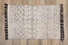 Tapete Losangos Branco e Preto 140x200 cm