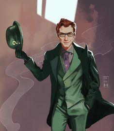 "za-ra-h: ""CV Edward Nygma (The Riddler) commission for the wonderful "" Gotham Villains, Superhero Villains, My Superhero, Dc Comics Characters, Dc Comics Art, Batman Comics, Joker Art, Batman Art, Batman Telltale"