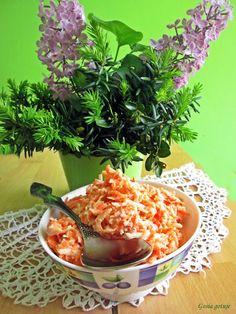 Gosia gotuje: Surówka z jabłka i marchewki do obiadu