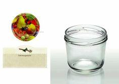 Cap+Cro - 40 Stück Sturzgläser 230 ml, Deckelfarbe: dekor Obst: Amazon.de: Küche & Haushalt
