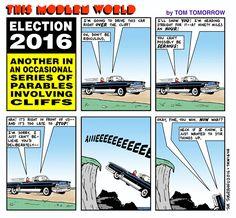 Cartoon: The cliff