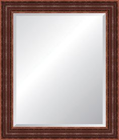 Leather Look Edged Wall Mirror