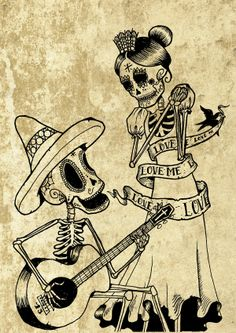 Viva La Muerte! by Benjamin Valentini, via Behance