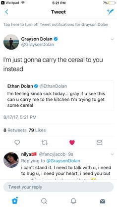 He still gets cereal ! Grayson is so nice though ❤