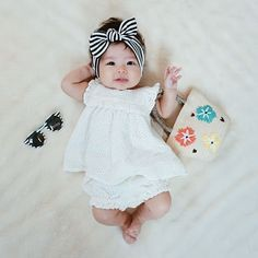 Trendy diy baby girl outfit head bands 34 ideas … - after. Monthly Baby Photos, Newborn Baby Photos, Baby Girl Photos, Cute Baby Pictures, Baby Girl Newborn, Baby Crib, Cute Baby Girl, Family Pictures, Baby Girls