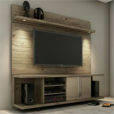 Natural Look Floating TV Cabinet