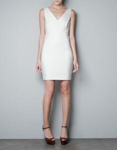 V-NECK DRESS - Dresses - Woman - ZARA United States (Rehearsal)