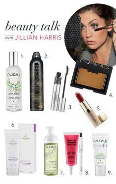 Beauty Talk: Jillian Harris: -Caudalie Beauty Elixir -Aromatherapy Associates Purifying Facial Scrub -Obesessive Compulsive Cosmetics Anime -Caudalie Pulpe Vitaminée Eye & Lip Cream