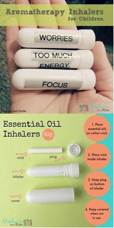 how to make essential oil inhalers