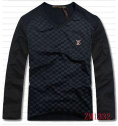 Louis Vuitton Men Long Sleeve Shirt On Sale-17
