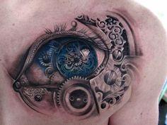 steampunk eye tattoo