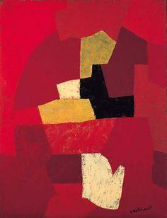 Poliakoff, Serge (1906-1969) - 1954 Composition Rouge (Christie's London, 2000) by RasMarley, via Flickr
