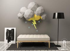 Cloud Storm Papercraft Scenography 3D Papercraft Build