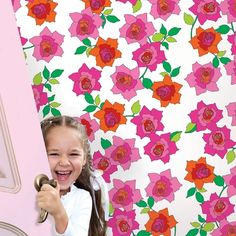 French Bull Rose Removable Wallpaper is peel and stick. It is the easiest way to decorate a child's room.
