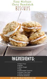 Airfryer Recipes | Easy Airfryer Oaty Sandwich Biscuits Recipe from RecipeThis.com
