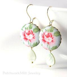 http://ift.tt/29dPhjv Shabby Cottage Chic Roses Earrings Bridal Jewelry #earrings #bridal #jewelry #shabbychic