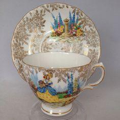 Colclough Bone China Tea Cup and Saucer Crinoline Lady Dinah 16191 #ColcloughRidgway