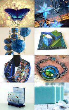Giftd with Little Bit of Blue - #blue #xmas #art #homedecor #NYC #photo #vintage #bracelet #scarf