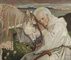 St Columba Bidding Farewell to the White Horse - John McKirdy Duncan - The Athenaeum