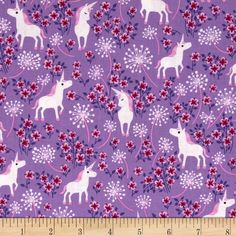 Timeless Treasures Unicorns Lilac from @fabricdotcom  Designed by Timeless Treasures, this cotton print fabric is perfect for quilting, apparel and home decor accents. Colors include pink, white and purple on a lilac background.
