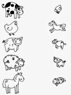 Z internetu - Sisa Stipa - Picasa Web Albums Más Toddler Learning Activities, Animal Activities, Fun Learning, Preschool Activities, Printable Preschool Worksheets, Free Kindergarten Worksheets, Worksheets For Kids, Farm Lessons, Farm Animal Coloring Pages