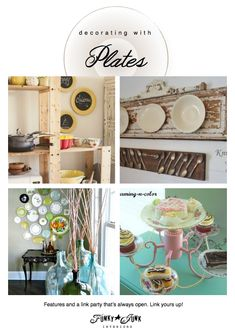 1000 images about dishes and ideas on pinterest plates for Funky junk home decor newfoundland
