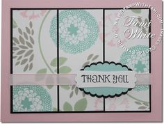 Stampin Up Petal Parade Saleabration Beauty using the panel effect technique. see blog for details