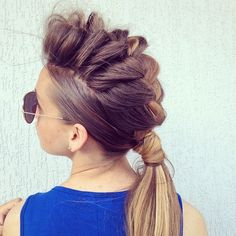 Give your ponytail some street funk with this Mohawk Braid hairstyle. #mohawk #braids #hairstyle