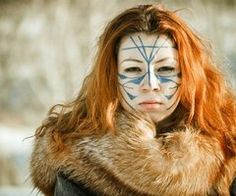"""One of the key figures of the ancient worlds was the shaman. As enigmatic today as they were thousands of years ago, these mystic practitioners were said to possess magic powers that helped shape the first human societies. Today, the word """"shamanism"""" is Larp, Shaman Woman, Tribal Makeup, Warrior Paint, Celtic Warriors, Female Warriors, Celtic Music, Celtic Mythology, Picts"""