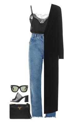 """Singing In Paris"" by hernamewaslily ❤ liked on Polyvore featuring Fleur du Mal, Chloé, Prada, Maryam Nassir Zadeh, Acne Studios and Oats Cashmere"