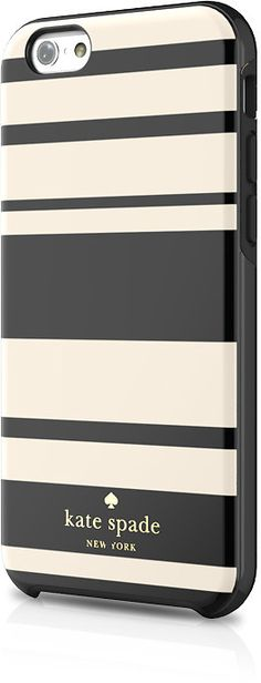 Kate Spade Fairmont Stripe Hybrid Hardshell Case for iPhone 6 (AT&T-discount,need Iphone 6 Cases, Cute Phone Cases, Phone Covers, Iphone Accessories, Bag Accessories, Kate Spade Iphone, Video Games For Kids, Black Cream, Ipad Case