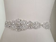 Wedding Belt Bridal Sash Belt Crystal Pearl by BellaBellaLaBella Wedding Dress Types, Wedding Dress Sash, Wedding Belts, Wedding Dresses, Rhinestone Dress, Crystal Rhinestone, Sparkly Belts, Sash Belts, Wedding Accessories