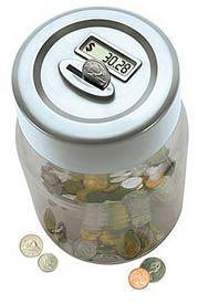 Hucha digital regalo para adolescentes, con un contador digital para saber cuanto dinero hemos ahorrado.