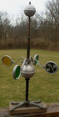 Vintage Stained Glass Weathervane Lightning Rod | eBay