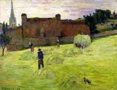 Paul Gauguin, Haymaking in Brittany, 1888