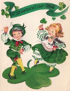 Vintage Holidays st patricks day wishes Vintage Holidays St Patricks Day Cards, Happy St Patricks Day, Vintage Greeting Cards, Vintage Postcards, Fete Saint Patrick, Irish Jig, St Patrick's Day Decorations, Images Vintage, Irish Culture