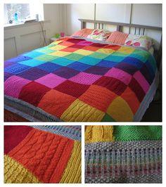 Cubrecamas multicolor.
