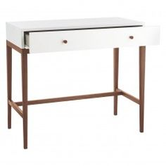 TATSUMA White and walnut stained dressing table
