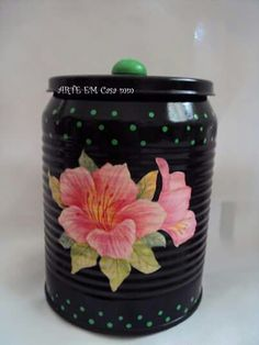 Aluminum Can Crafts, Tin Can Crafts, Metal Crafts, Recycled Crafts, Diy Crafts, Mason Jar Crafts, Bottle Crafts, Tin Can Shabby Chic, Hobbies And Crafts