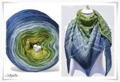 Strickanleitung mit Farbverlaufswolle Blue Hortensia